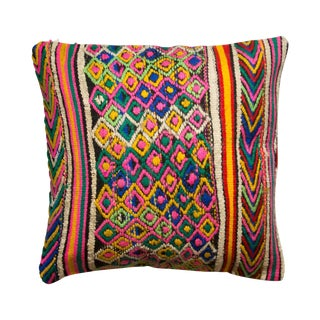Multi-Colored Turkish Kilim Pillowcase