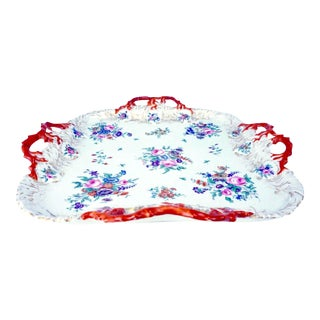 1732 Meissen Rococo Porcelain Floral Tray