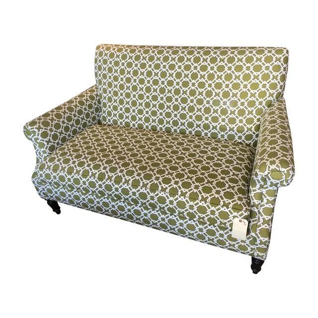 Crate & Barrel Custom Upholstered Settee/Loveseat - Image 1 of 7