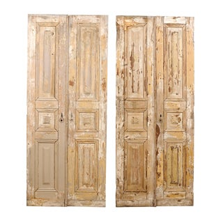 Two Pairs of French 19th Century Wooden Doors