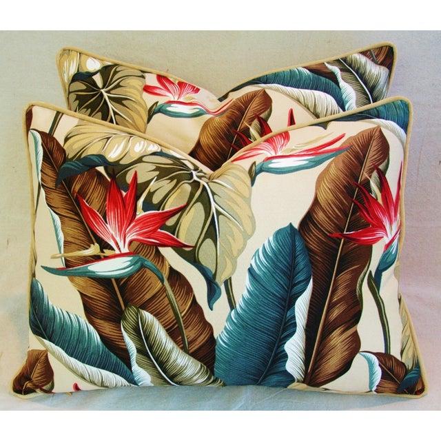 Custom Tropical Bird of Paradise Pillows - A Pair - Image 2 of 11