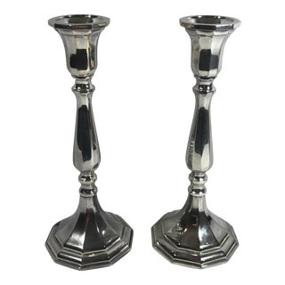 Italian Silverplated Candlesticks- A Pair