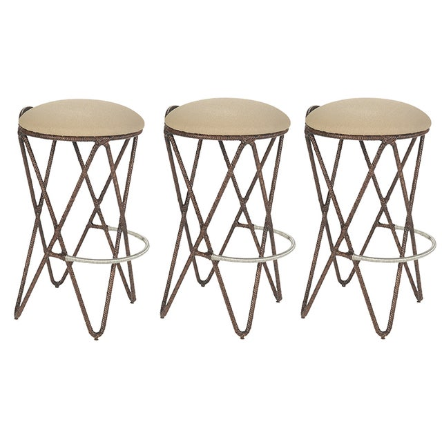 David Francis Proton Bar Stools - Set of 3 - Image 1 of 5