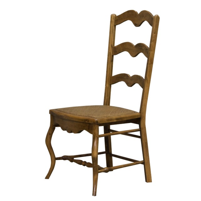 Vintage Sarreid LTD Alder Wood Ladderback Hall Chair - Image 2 of 4