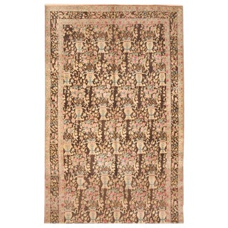 Antique 19th Century Persian Lavar Kerman Carpet