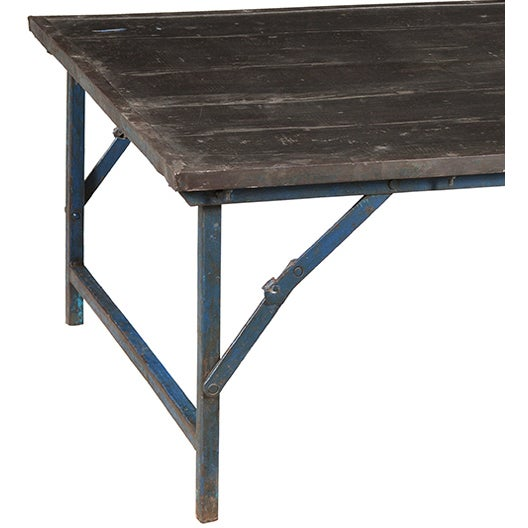 Antique Industrial Folding Coffee Table Chairish