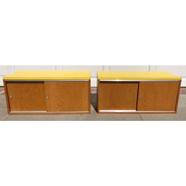 Sliding Door Cabinets - A Pair - Image 2 of 8
