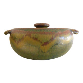 Covered Pottery Casserole Dish