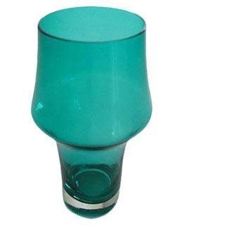 Riihimaki Stromboli Green Glass Vase