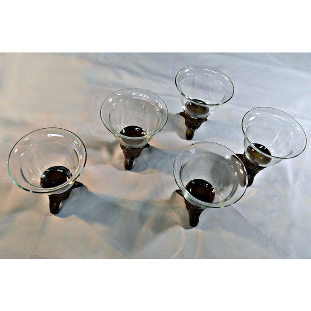 Wolf Head Stirrup Goblets - Set of 5 - Image 8 of 10