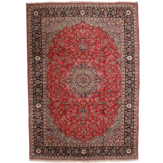 Vintage Hand Knotted Wool Persian Najafabad Rug - 11′4″ × 16′2″