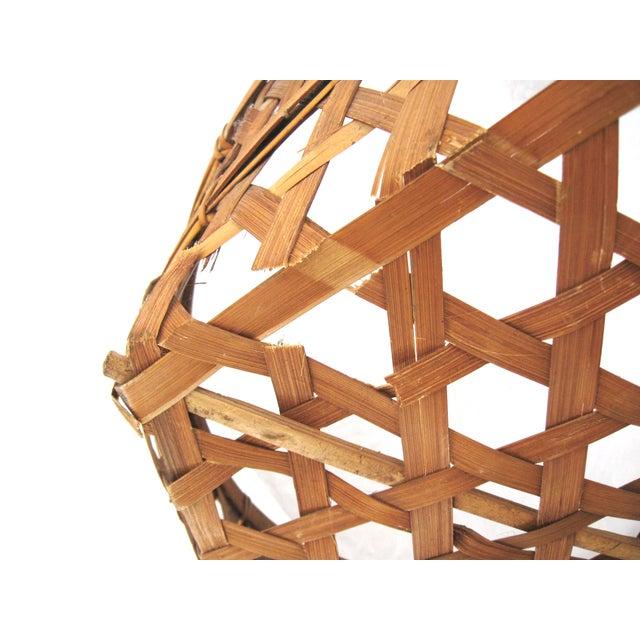 Large Round Asian Basket - Image 5 of 7