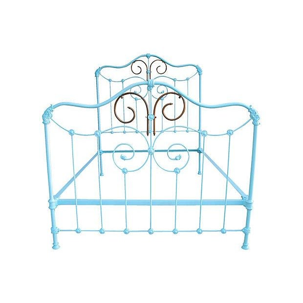 Antique Wrought Iron Bed Frame - A Full - Image 5 of 7
