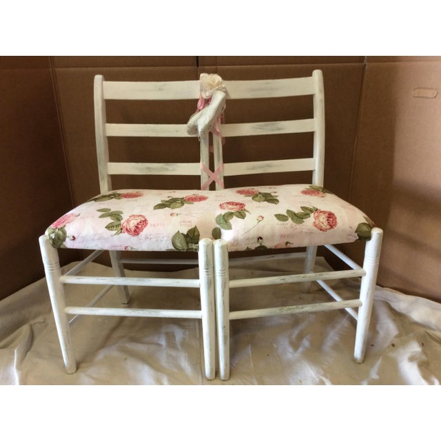 Custom Floral Ballerina Bench - Image 2 of 6
