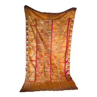 Vintage Indian Silk & Cotton Phulkari