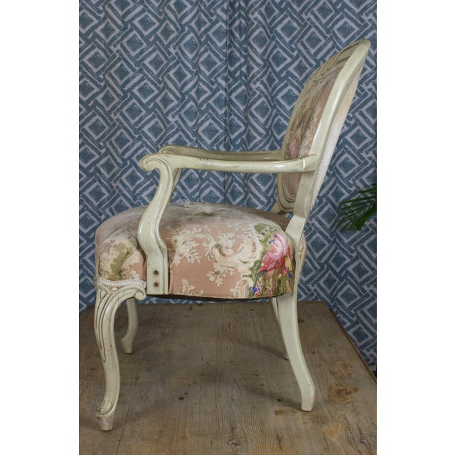 Vintage Louis XV Style Armchair - Image 5 of 7