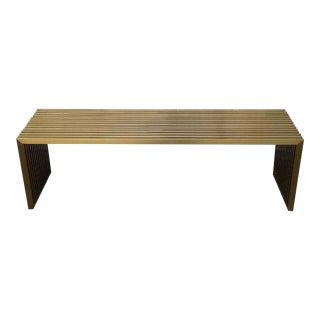 Chloe Satin Brass Slat Bench