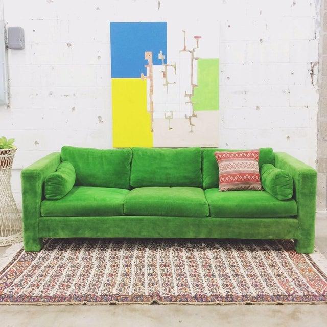 Milo Baughman Thayer Coggin Stunning Green Sofa - Image 5 of 5