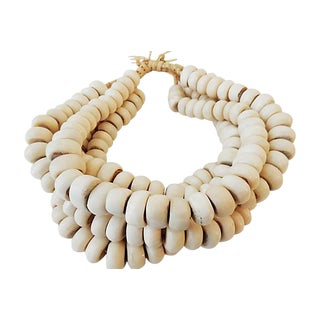Currency Bone Trade Beads - Set of 5