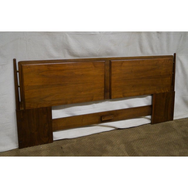 quality mid century modern king size headboard chairish. Black Bedroom Furniture Sets. Home Design Ideas