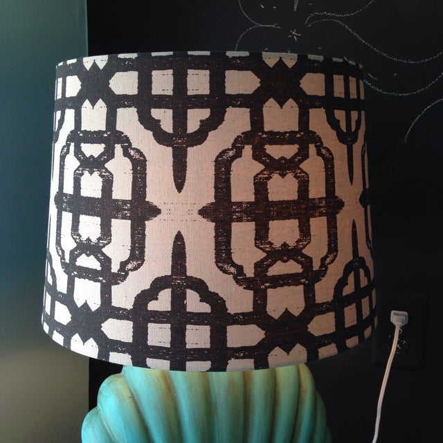 Image of Vintage Shell Porcelain Lamp