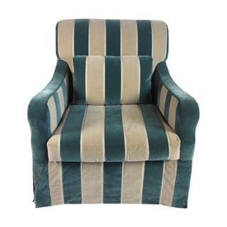 Gorgeous Striped Velvet Chair