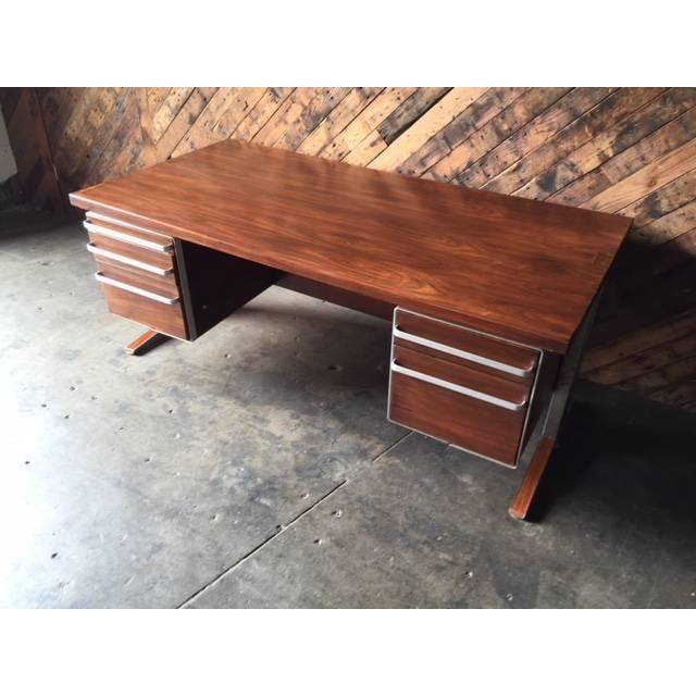 Vintage Cantilevered Executive Desk - Image 4 of 11
