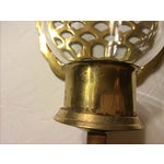 Image of Brass Pineapple Wall Sconce Candleholders