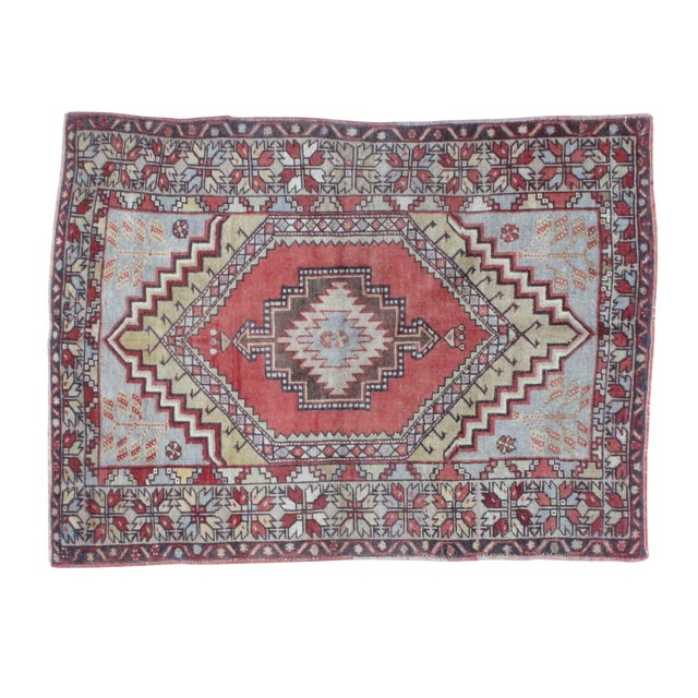 "Leon Banilivi Oushak Wool Rug- 3'7"" X 4'10"" - Image 1 of 5"