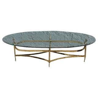 Neoclassical Undine Brass Coffee Table