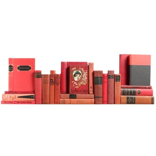 Mid-Century Book Décor: Red Classics - Set of 22