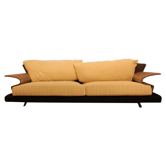 giorgio saporiti il loft super roy sofa chairish. Black Bedroom Furniture Sets. Home Design Ideas