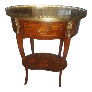 Antique Oval Inlaid Table