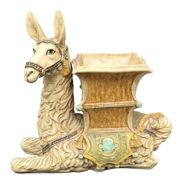 Vintage Palm Beach Hollywood Regency Resin Llama Planter - Image 1 of 10
