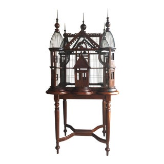 Wooden Victorian Style Birdcage