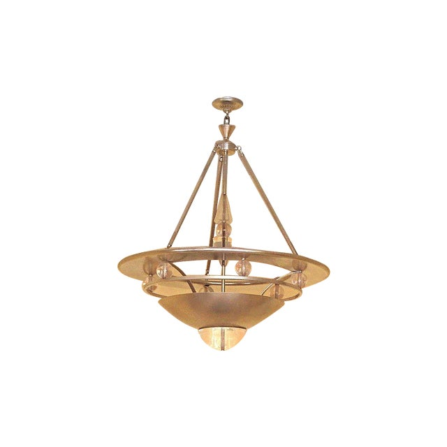 Mid-Century Modern Atomic Space Age Chandelier - Image 4 of 4