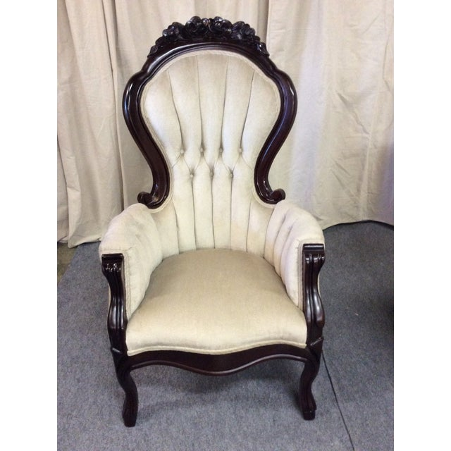 Wooden Victorian Chairs - Pair - Image 6 of 11