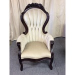 Image of Wooden Victorian Chairs - Pair