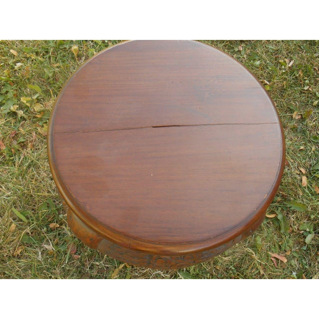 Vintage Japanese Hand Carved Tea Table Dining Set - Image 8 of 9
