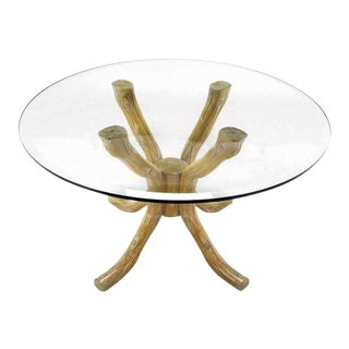 Carved & Cerused Faux Bois Dining Table