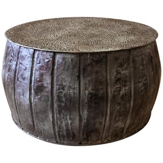 Iron Round Accent Drum Table