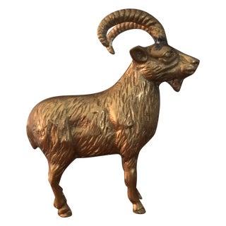Brass Ram Figurine