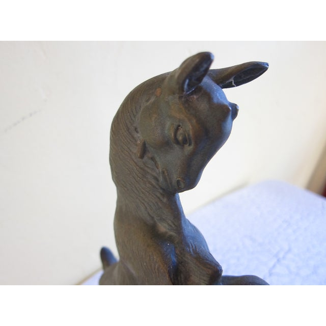 Vintage Art Deco Bronzed Rutting Goats on Marble - Image 11 of 11
