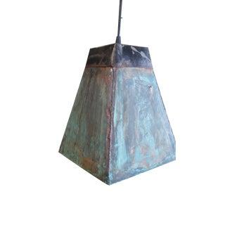 Copper Flashing & Steel Pendant Light