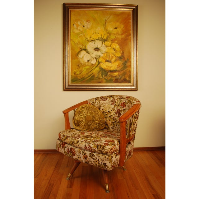 Mid Century Hollywood Regency Poppy Painting - Image 8 of 9