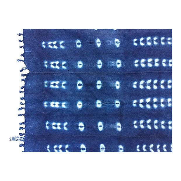 Handwoven African Indigo Textile - Image 2 of 5