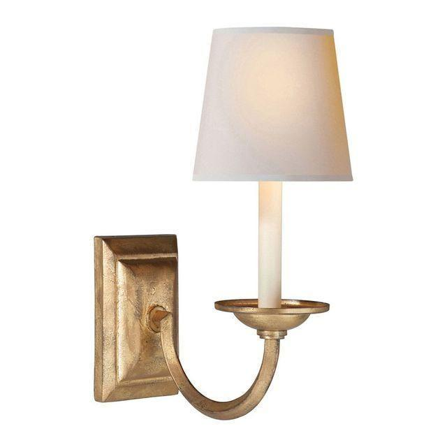 Image of Visual Comfort Gilded Iron Wall Sconces - A Pair