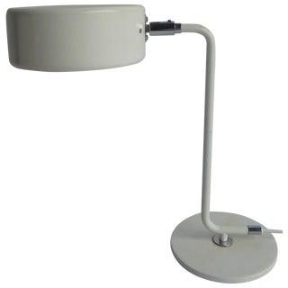 Vintage Danish Modern Swedish White Table Lamp