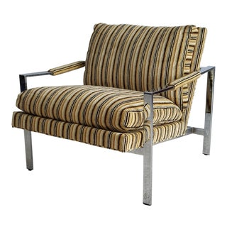 Milo Baughman Thayer Coggin Mid-Century Chrome Chair
