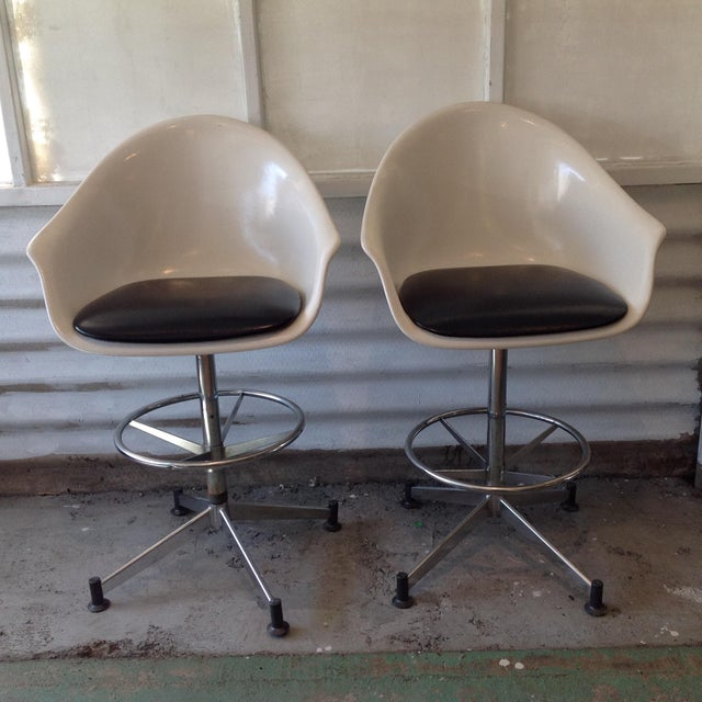 Vintage Cosco Shell Bar Stools- A Pair - Image 2 of 11